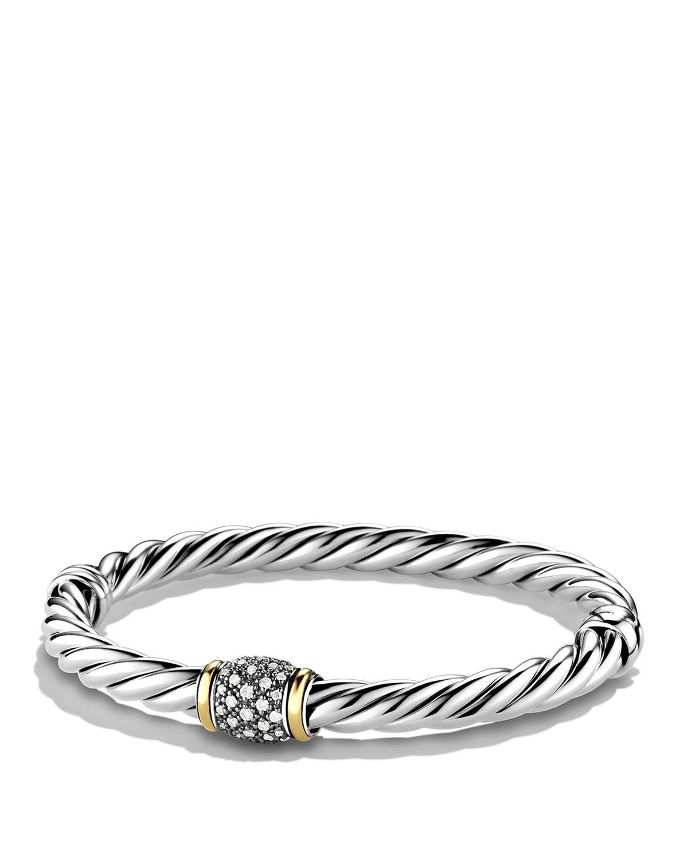Lyst David Yurman Metro Bracelet With Diamonds And Gold