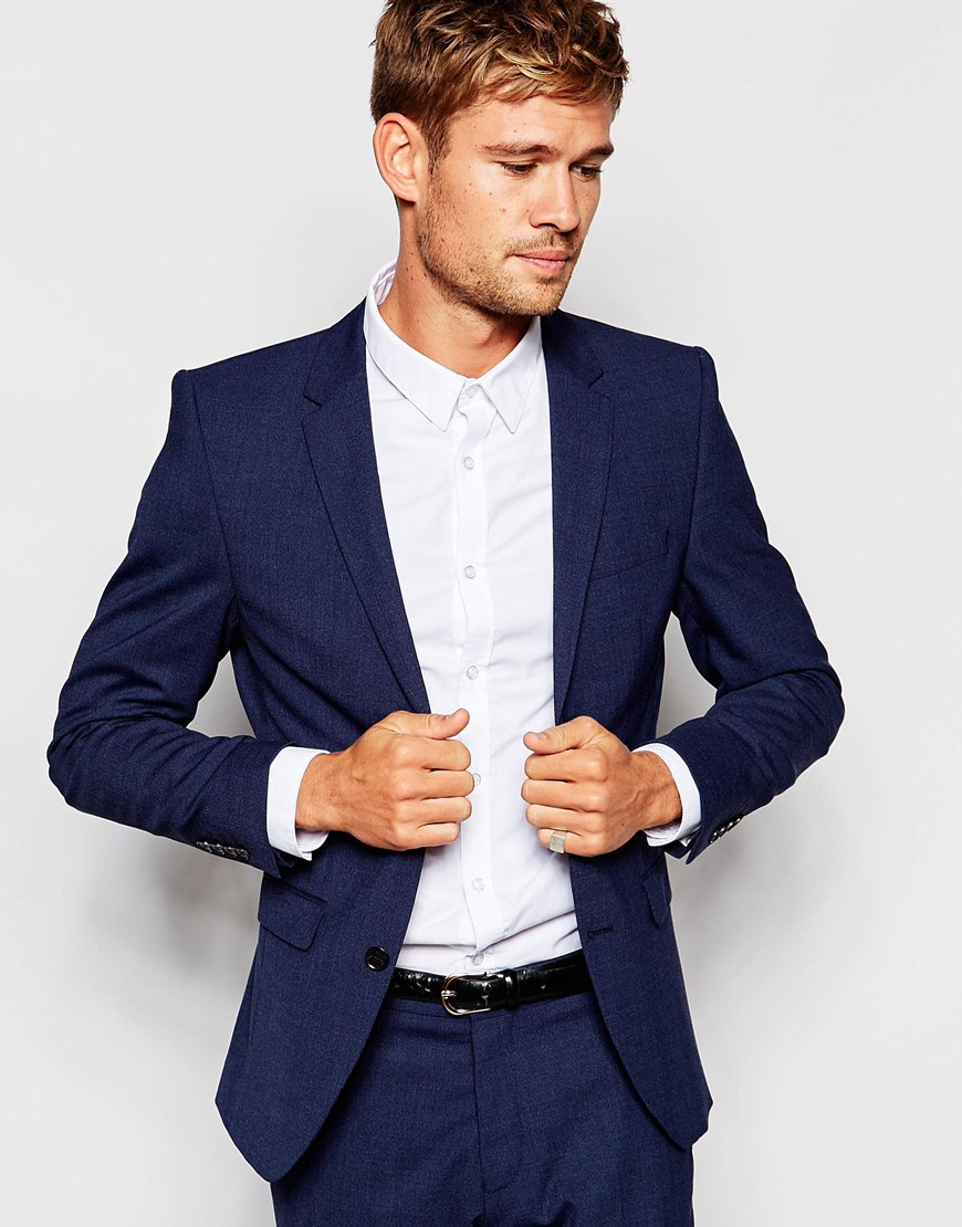 Selected Travel Suit Jacket With Stretch In Slim Fit in Blue for ...