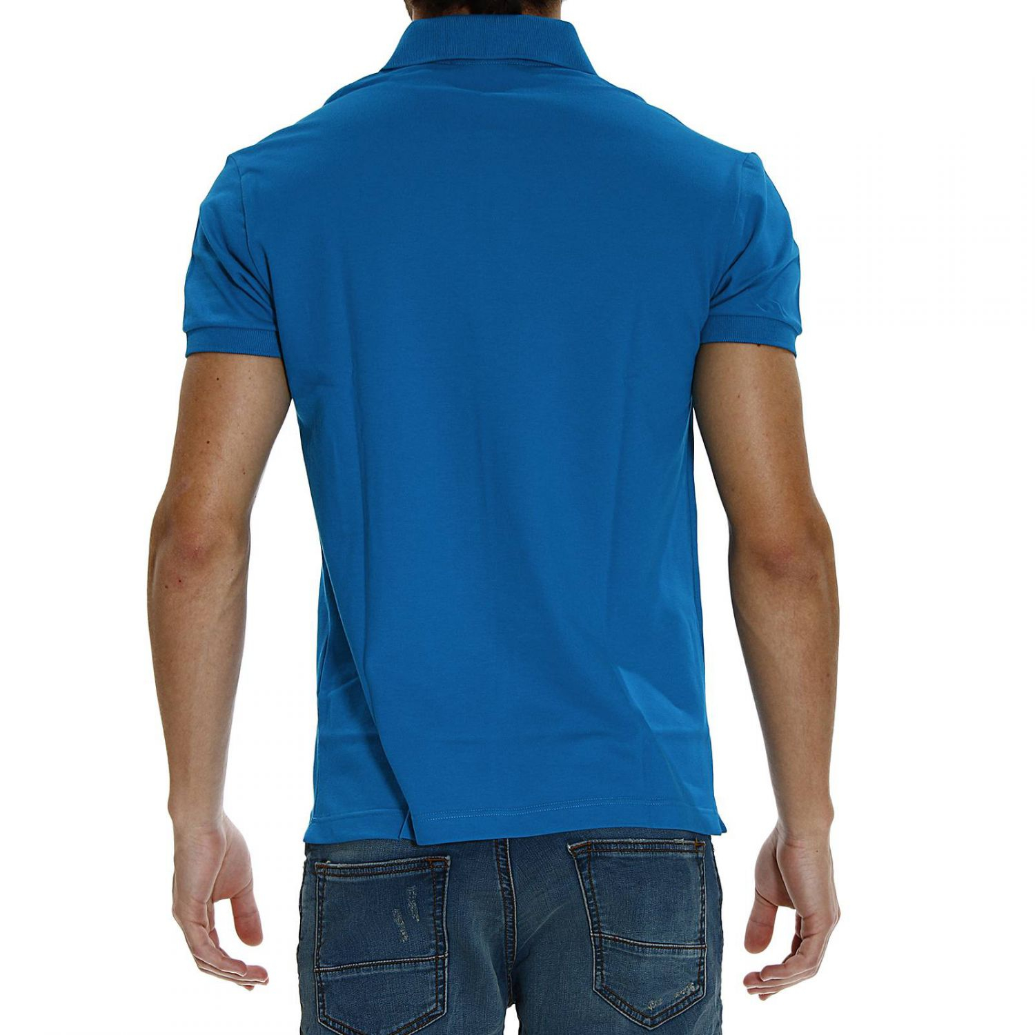 Lyst fred perry stretch piquet half sleeve slimfit polo for Full sleeve polo t shirts