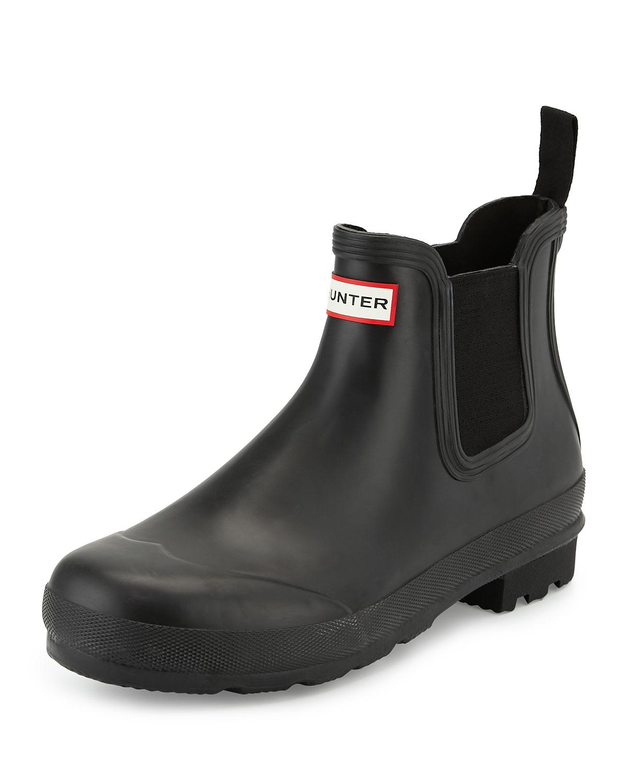 hunter dark sole chelsea boot in black for men lyst. Black Bedroom Furniture Sets. Home Design Ideas