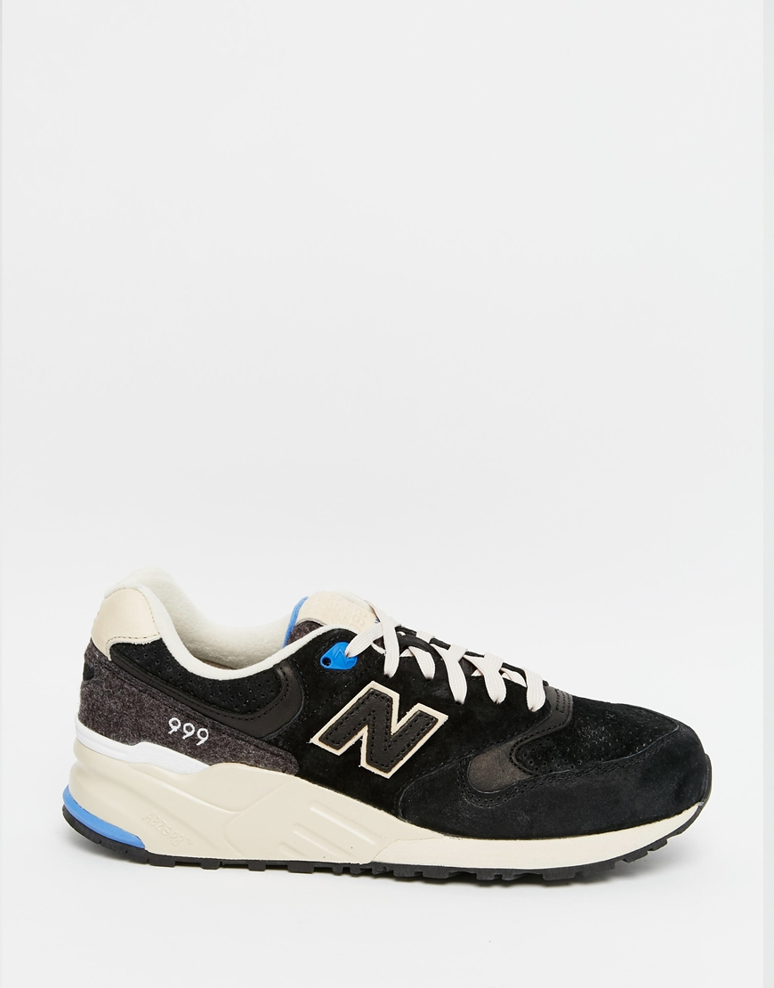 separation shoes 59a1c 669d6 New Balance Black 999 Suede/wool Trainers for men
