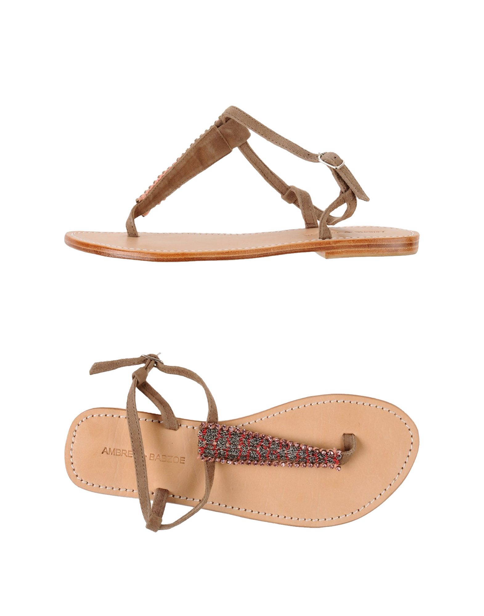 Brown in Sandal babzoe Thong Lyst Ambre wqIBR1pcn