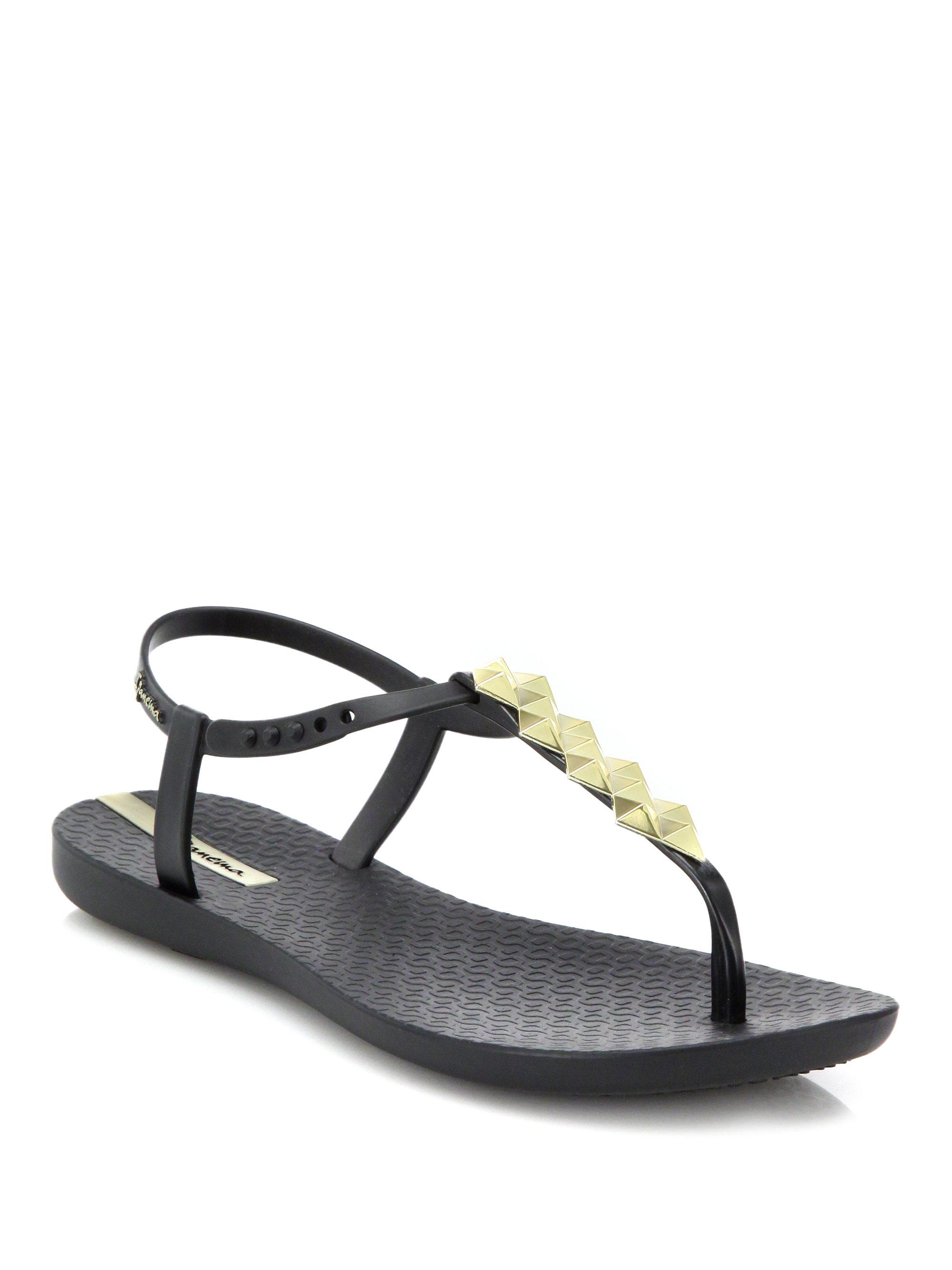 Lyst Ipanema Cleo Shine T Strap Sandals In Black