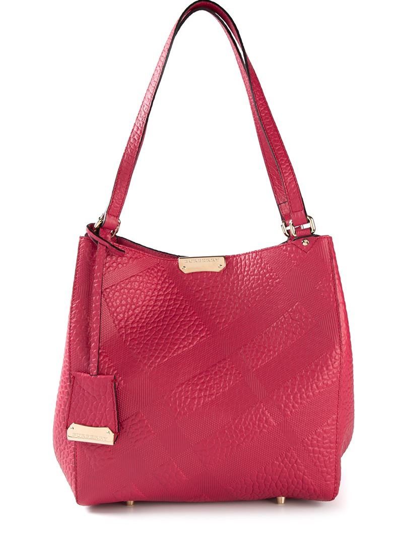 Burberry 'canterbury' Tote in Pink & Purple (Pink)