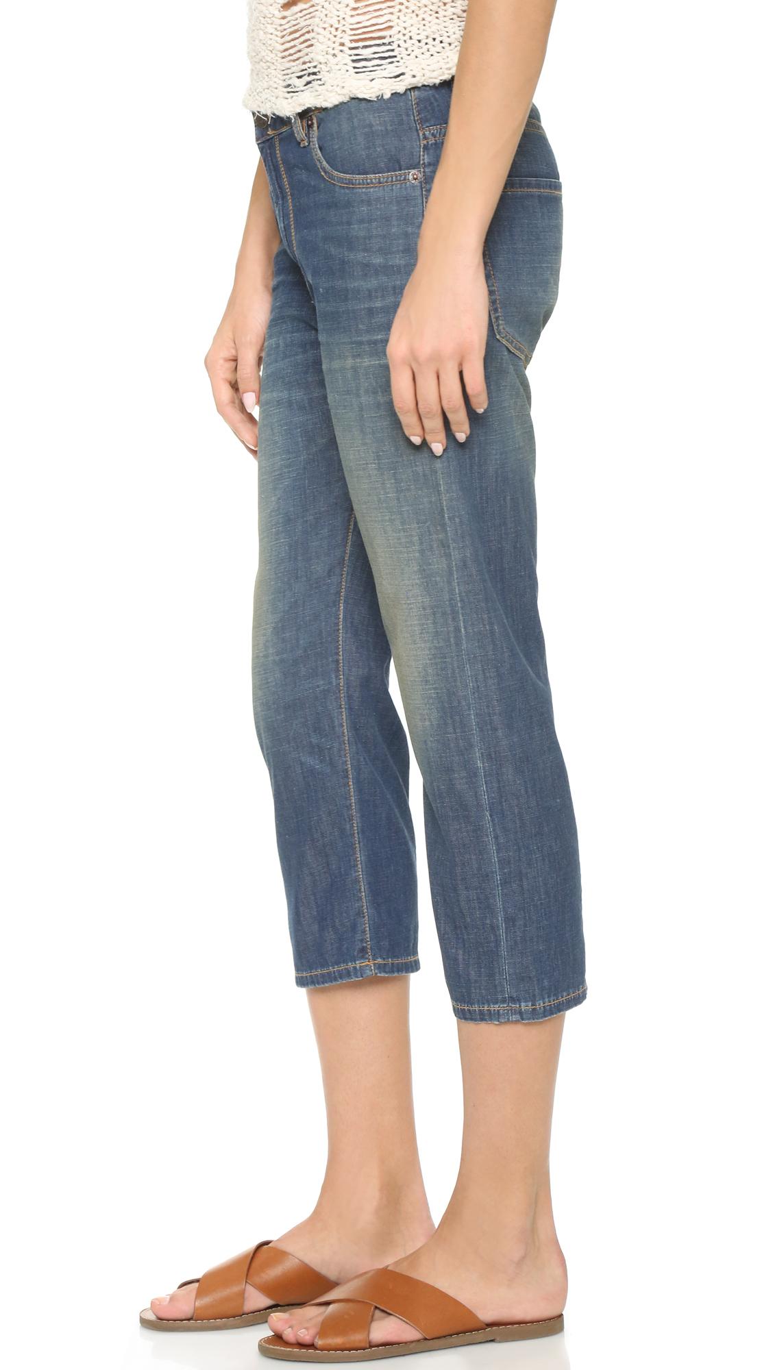 6397 Denim Loose Capri Jeans in Dirty Faded (Blue)