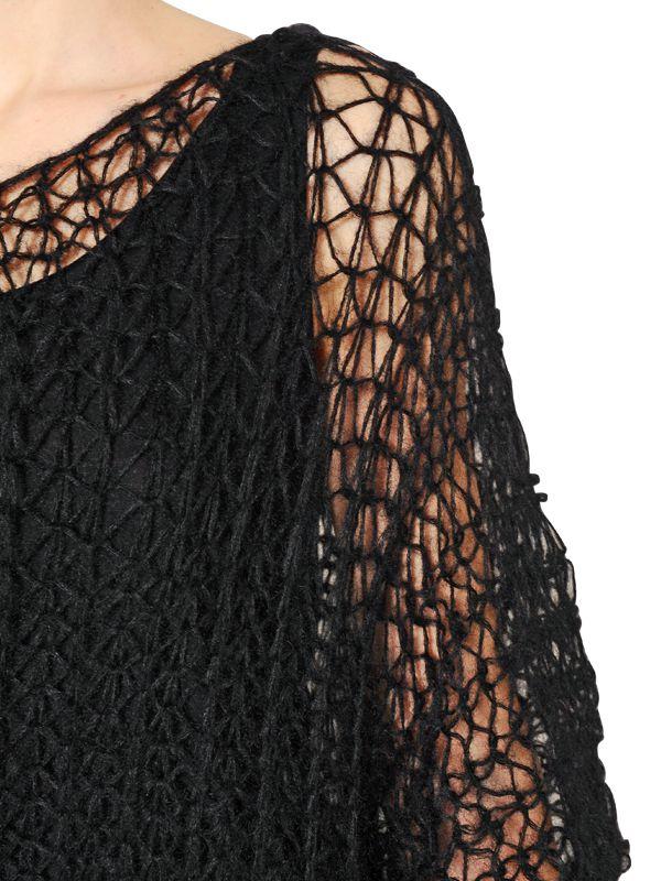 A.F.Vandevorst Superkid Mohair & Wool Blend Sweater in Black