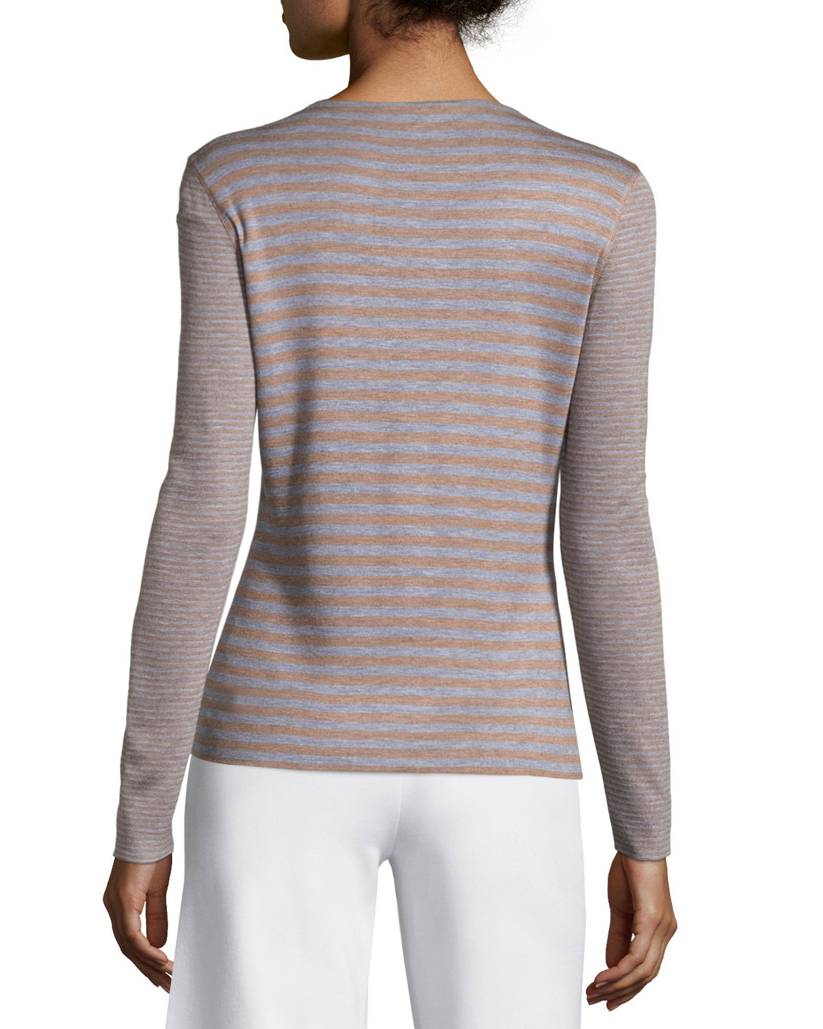 148 Best Images About Fingernail Art On Pinterest: Lafayette 148 New York Long-sleeve Striped Top In Pink
