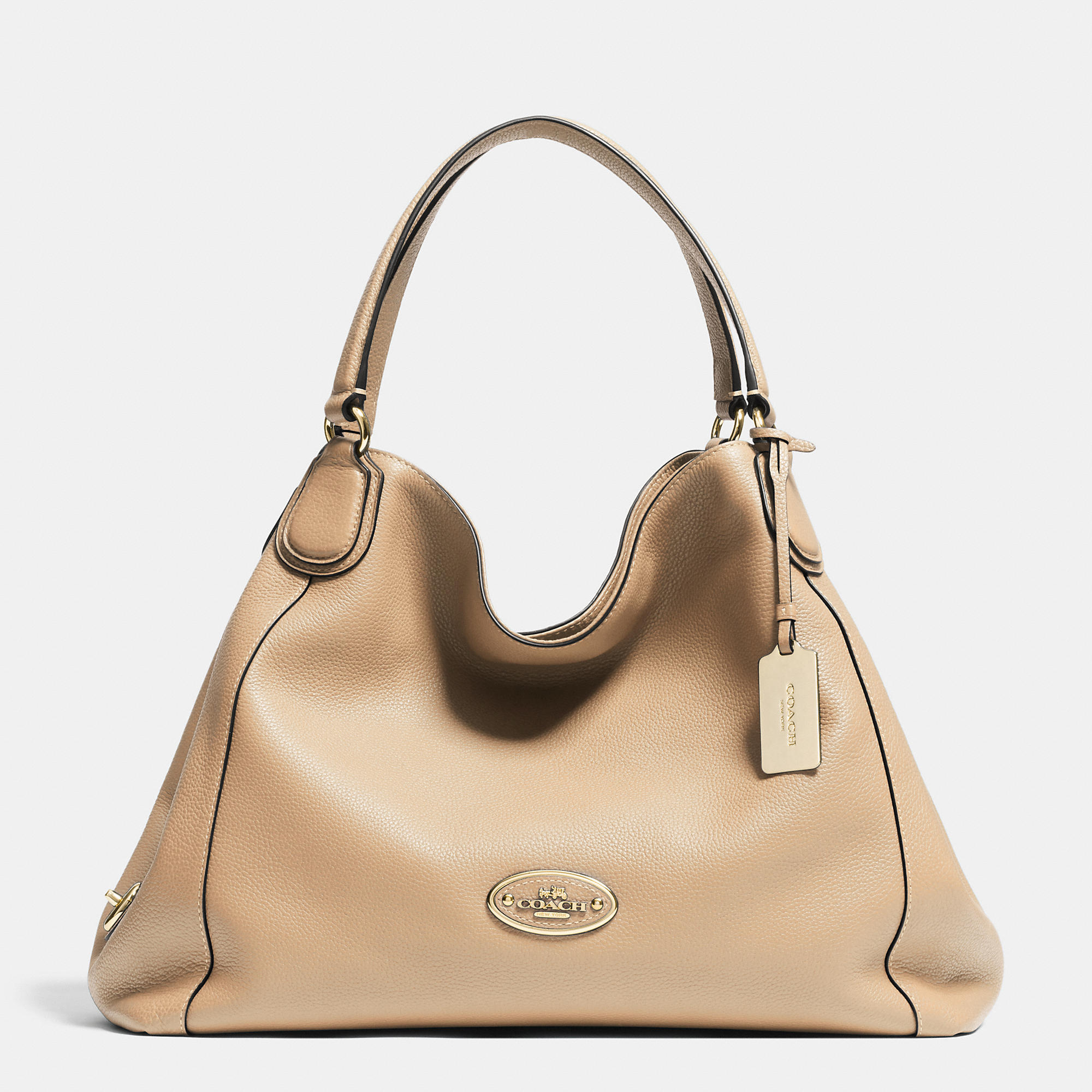 135a53f35ced Lyst - COACH Edie Shoulder Bag In Pebble Leather in Orange