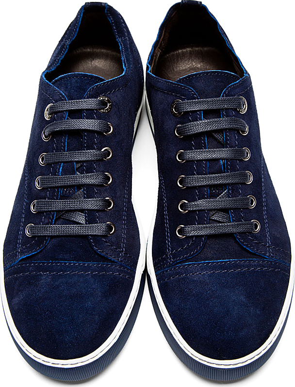 low top tennis sneakers - Blue Lanvin OcPVAKE