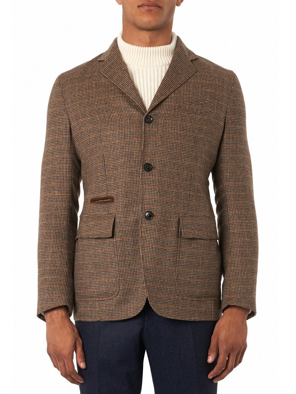 ca7abb02 Ermenegildo Zegna Brown Tweed Wool Blazer for men