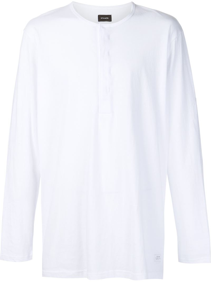 Stampd Button Down T Shirt In White For Men Lyst