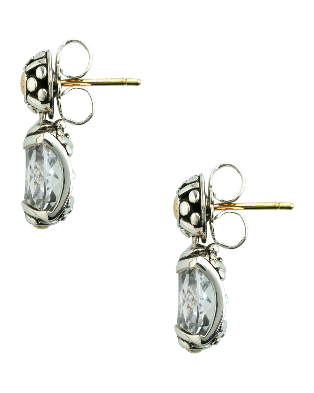 John hardy batu sari white topaz earrings in blue lyst for John hardy jewelry factory bali