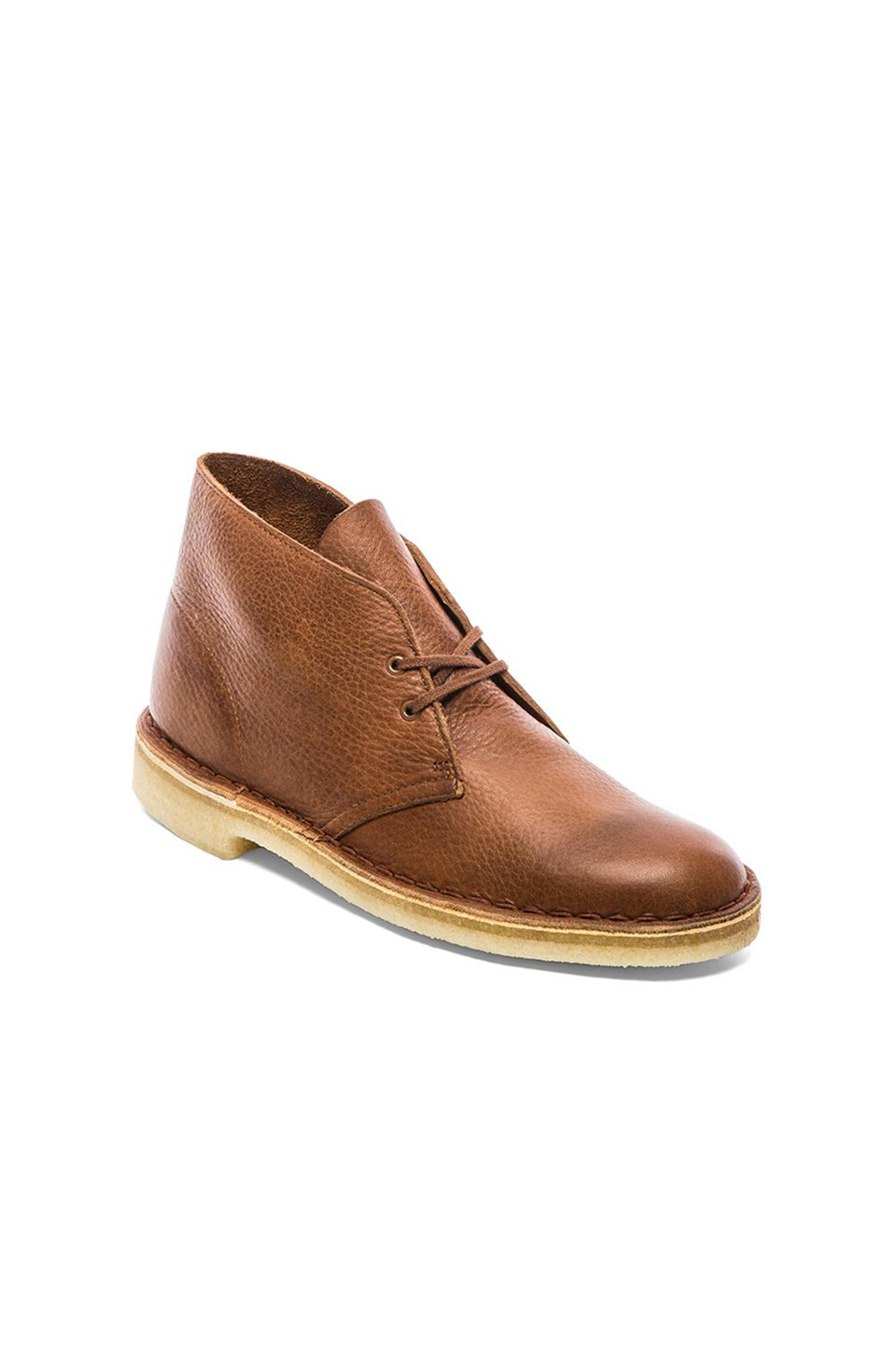 clarks desert boot in brown for men tan tumbled leather. Black Bedroom Furniture Sets. Home Design Ideas