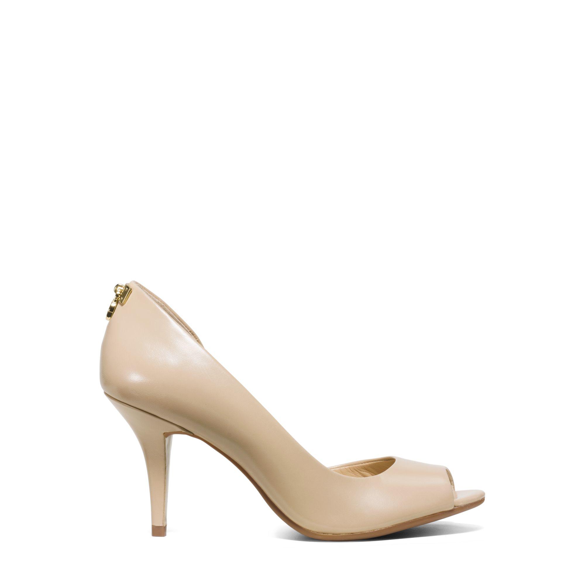 Michael Kors Hamilton Leather Peep-toe
