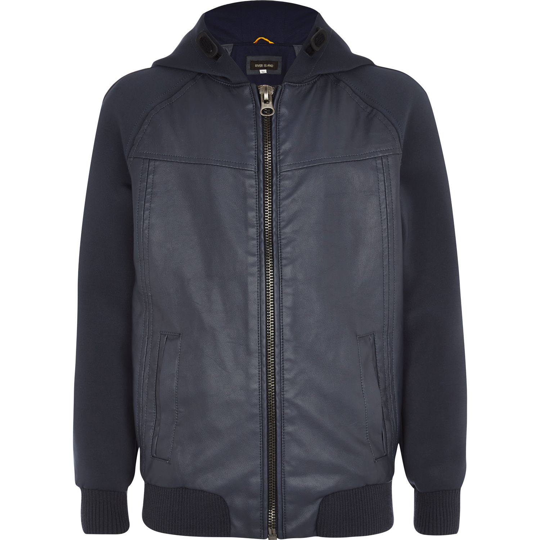 River island girls leather jacket