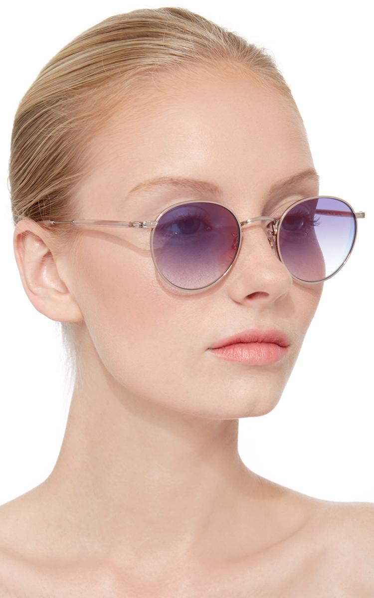 520f49a366 Lyst - Garrett Leight Rose Gold Wilson Metal Sunglasses in Metallic