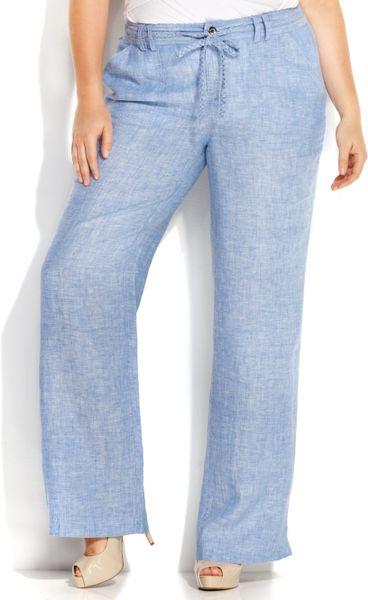 Plus Size Linen Pants - ExtraVital Fasion