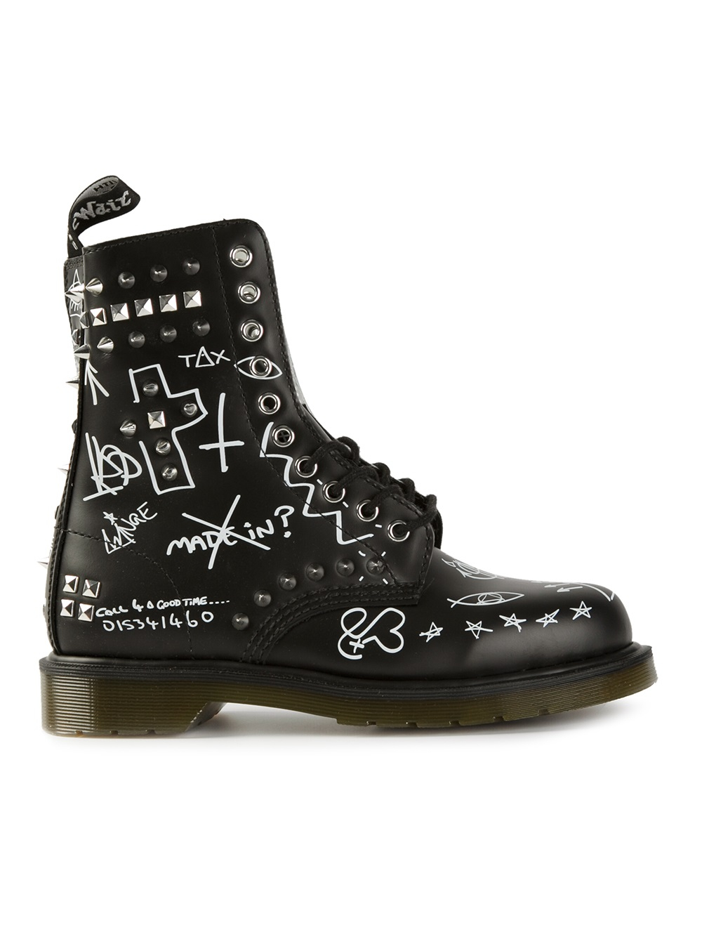 Lyst Dr Martens Graffiti Ankle Boots In Black