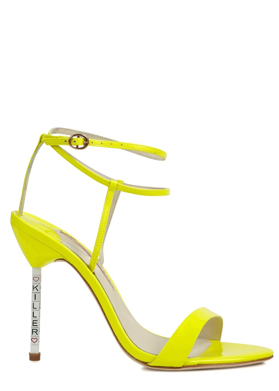Sophia Webster Nicki Neon Yellow Patent Leather Sandals in ...