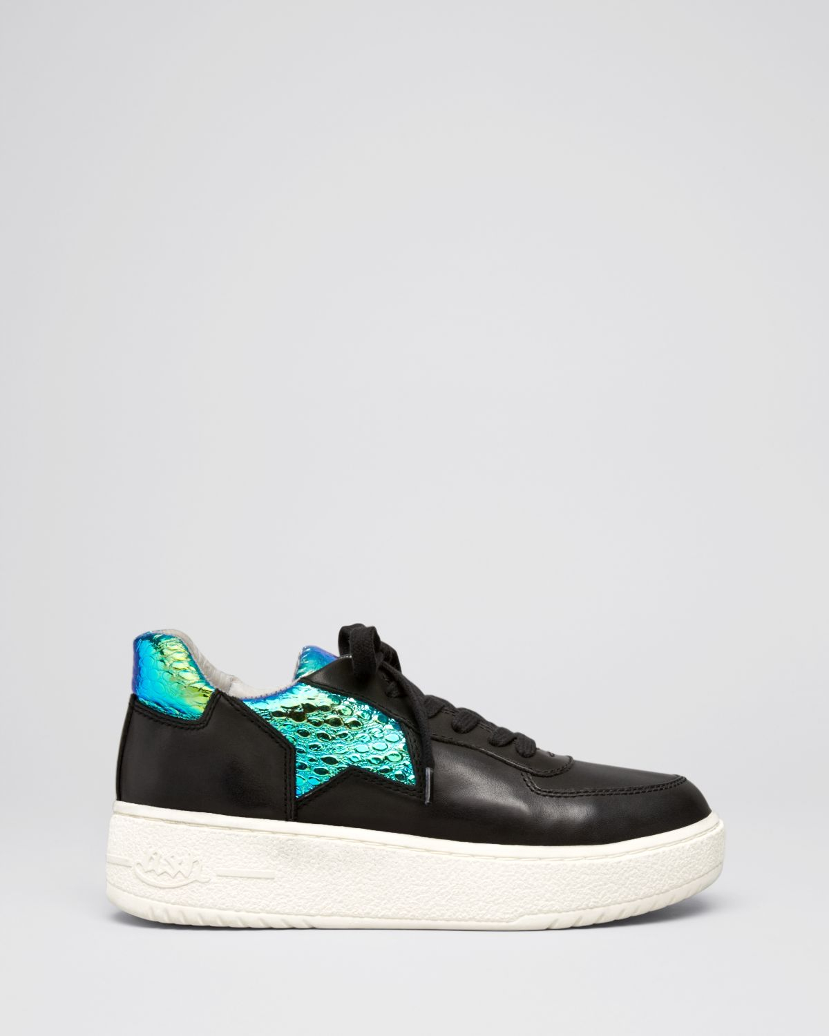 Ash Platform Lace Up Sneakers Fool In Black Black Green