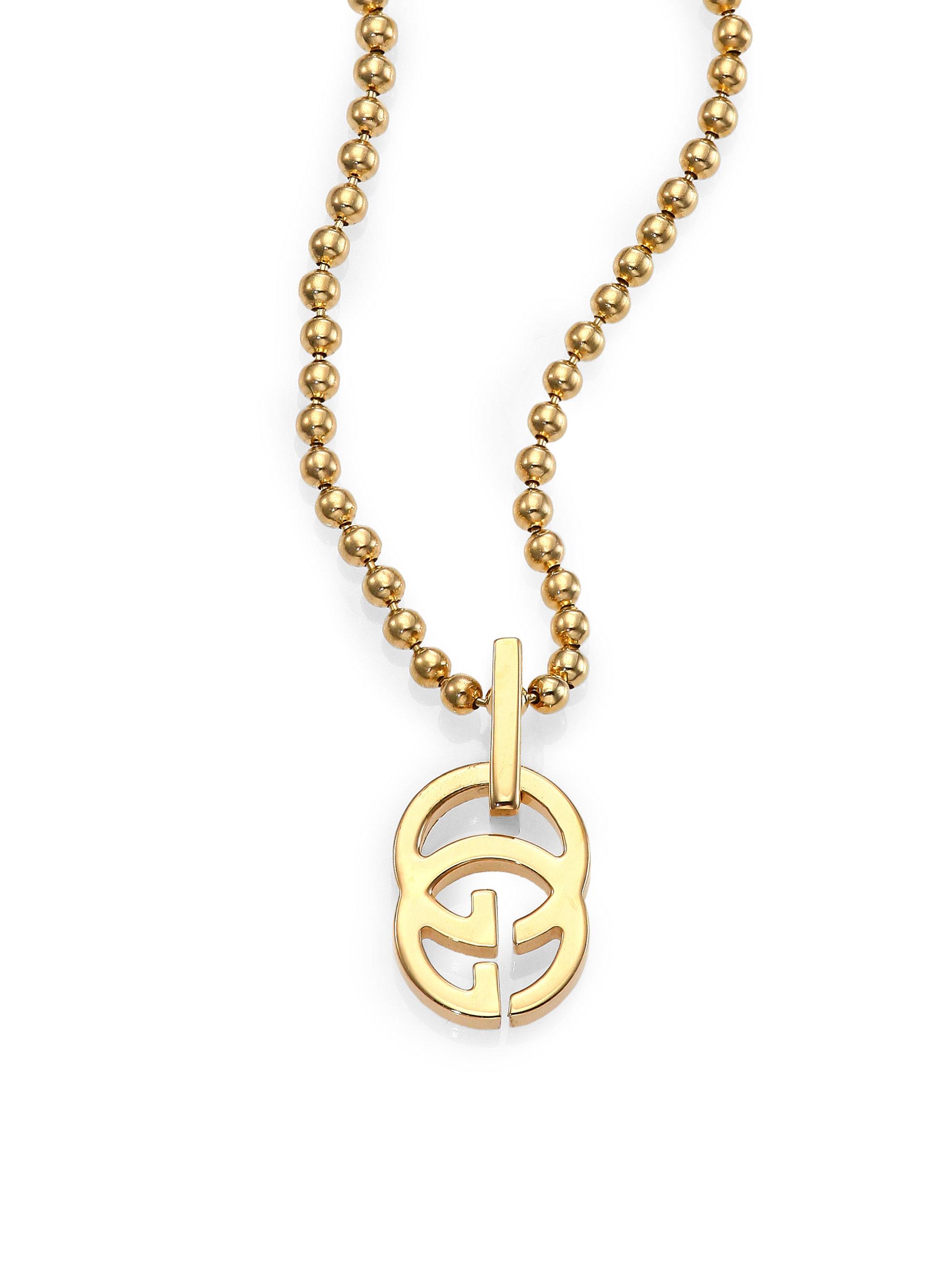 2e35c5aad5 Gucci Metallic Running G 18K Yellow Gold Pendant Necklace