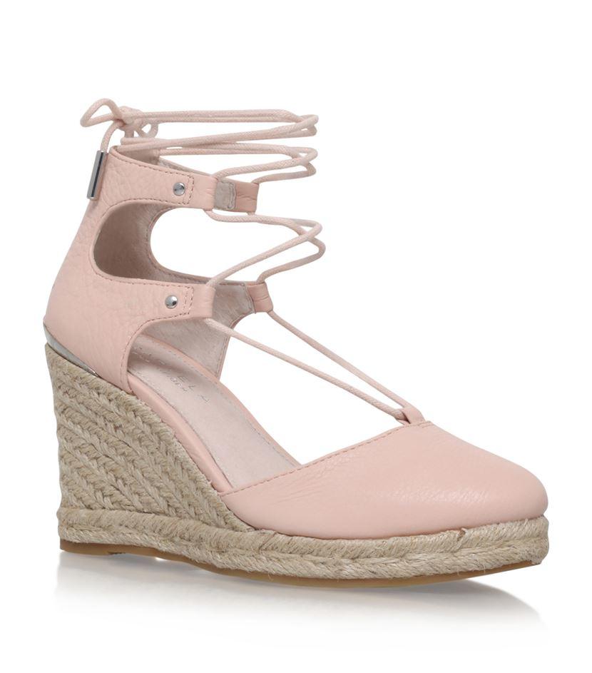 carvela kurt geiger kute wedge sandal in pink lyst