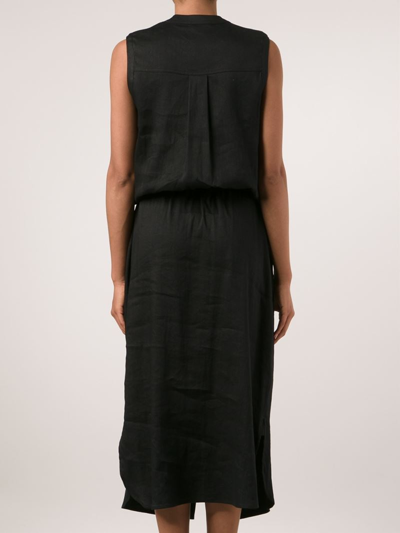 Lyst - Vince Sleeveless Shirt Dress in Black