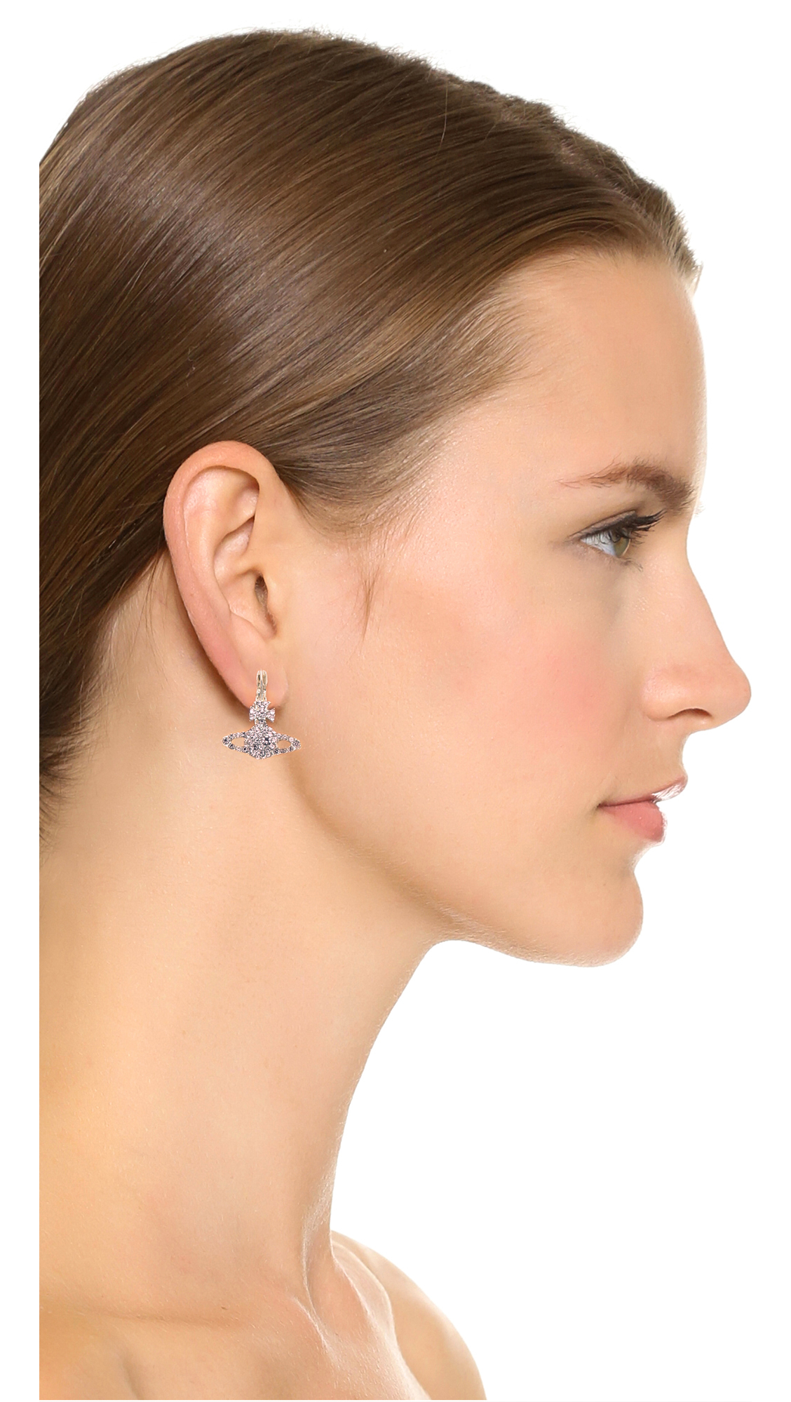 76bb8d55001890 Vivienne Westwood Grace Bas Relief Earrings - Light Amethyst in ...