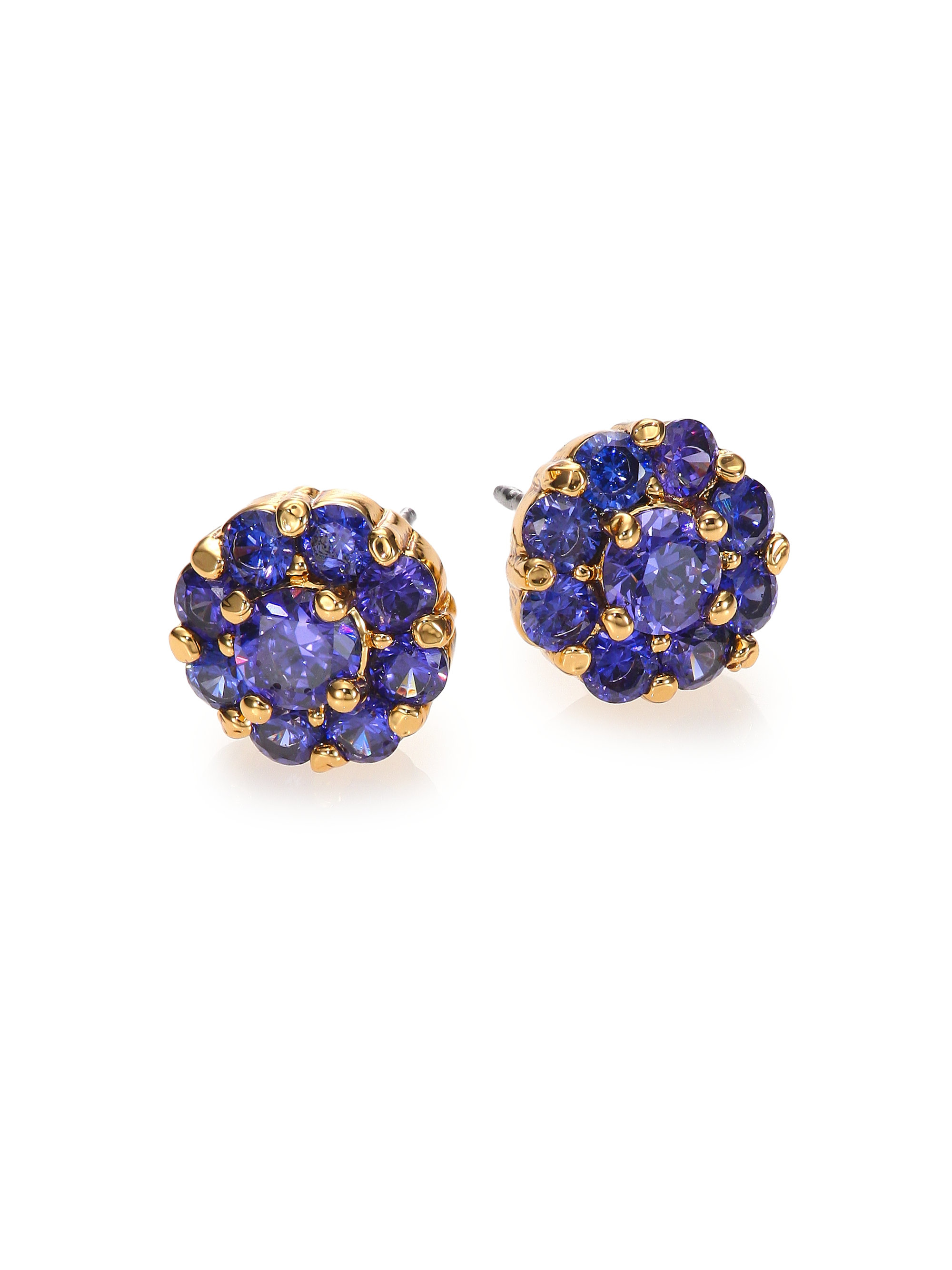 Lyst Kate Spade Rise Shine Flower Stud Earrings Blue In Blue