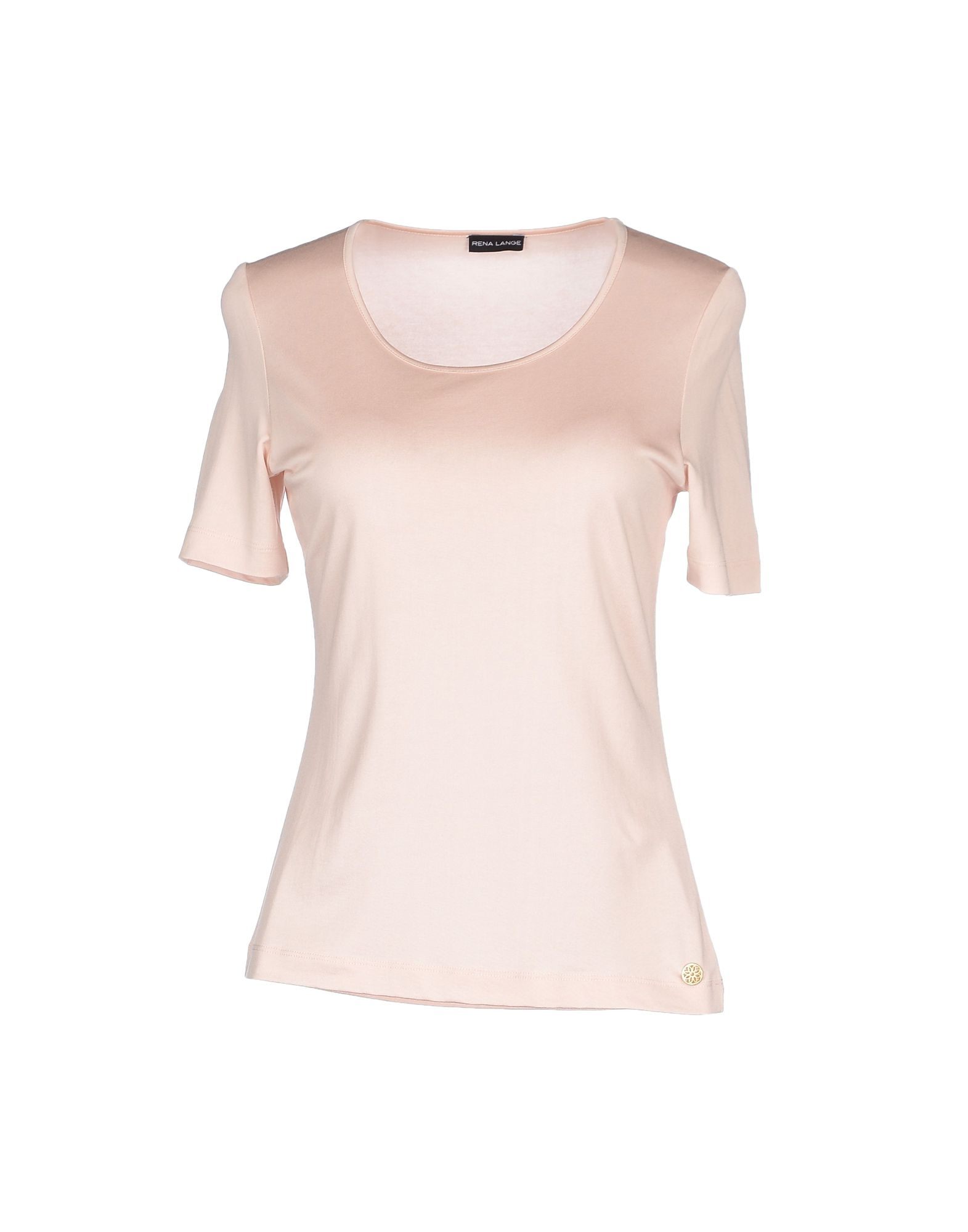 rena lange t shirt in pink lyst. Black Bedroom Furniture Sets. Home Design Ideas