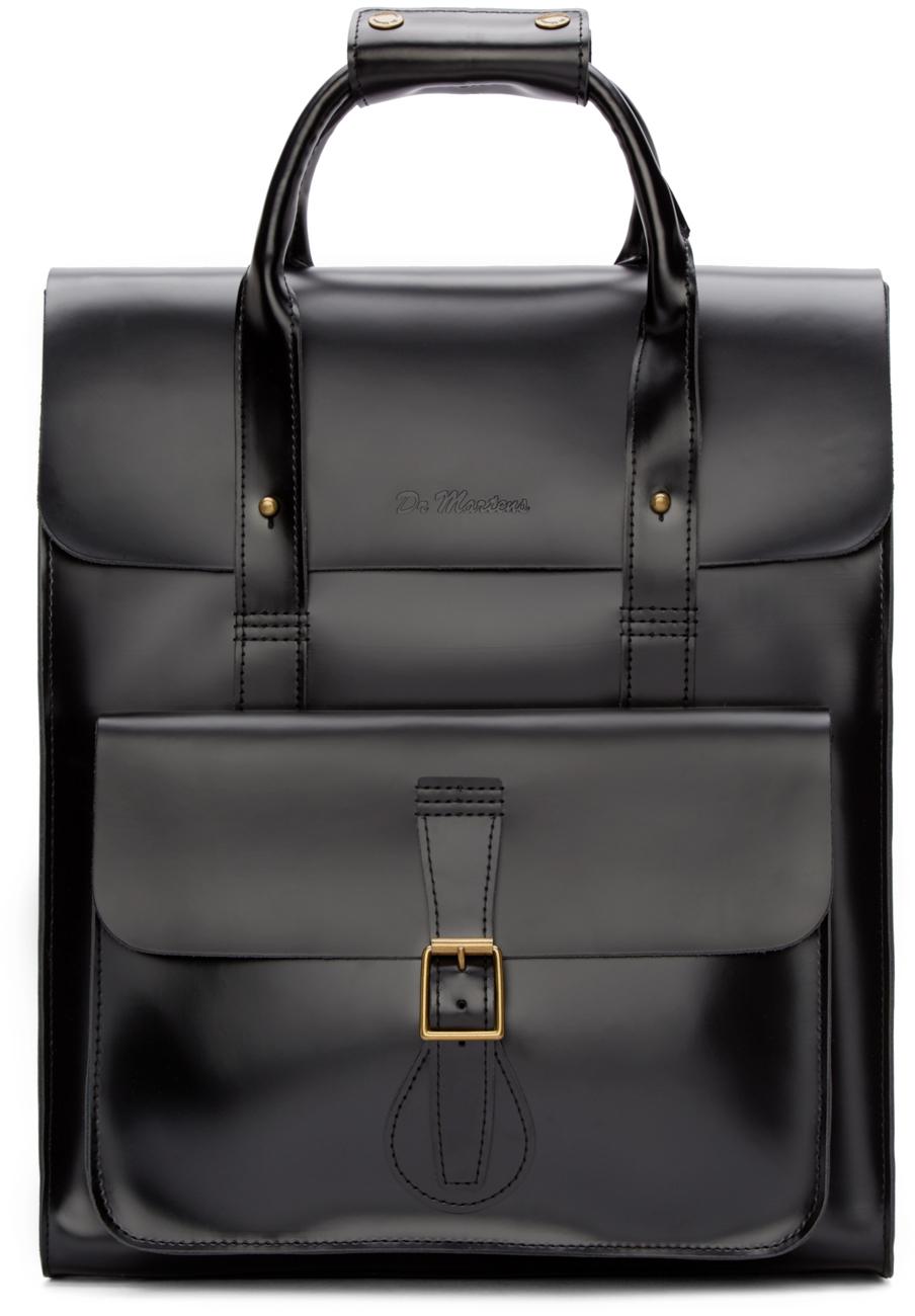Lyst Dr Martens Black Leather Large Rucksack In Black