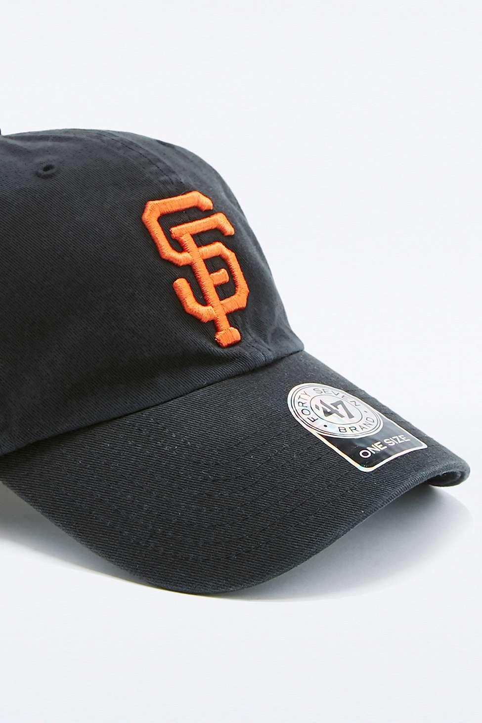 09eac1b1 47 Brand Black Mlb Sf Giants Cleanup Cap for men