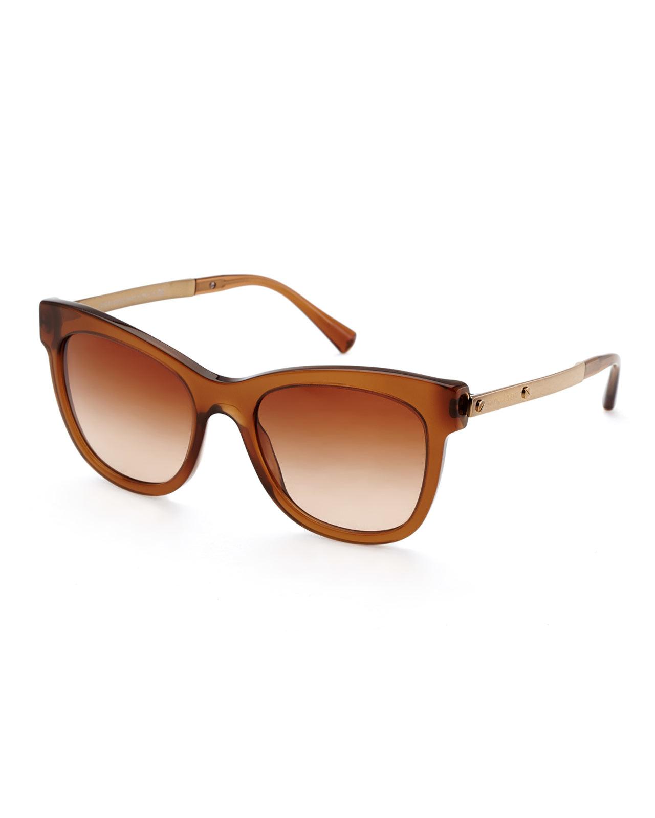 Armani Gold Frame Sunglasses : Giorgio armani Ar8011 Brown & Gold-Tone Cat Eye Sunglasses ...