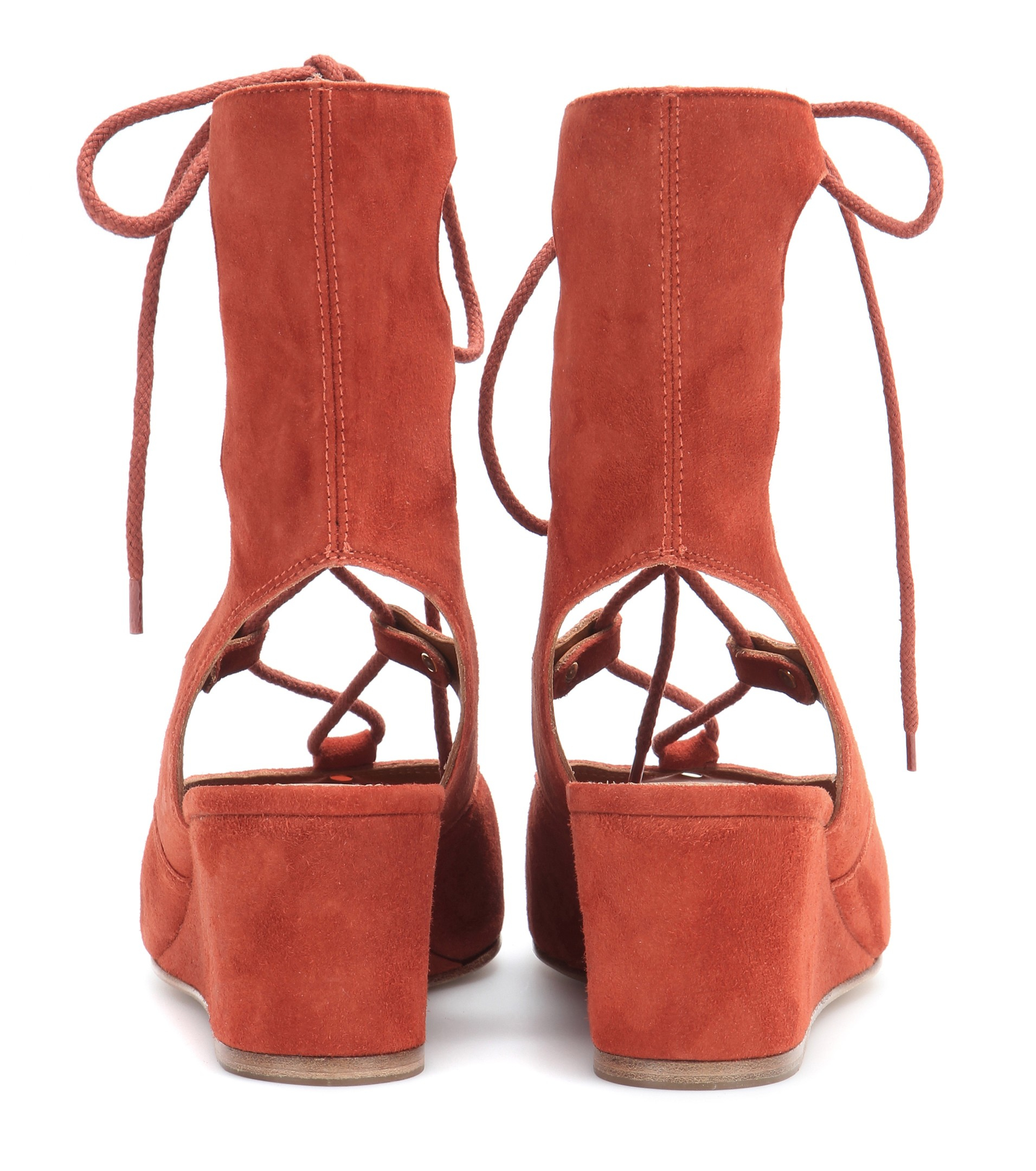 857d63518ac Lyst - Chloé Suede Gladiator Sandals in Brown