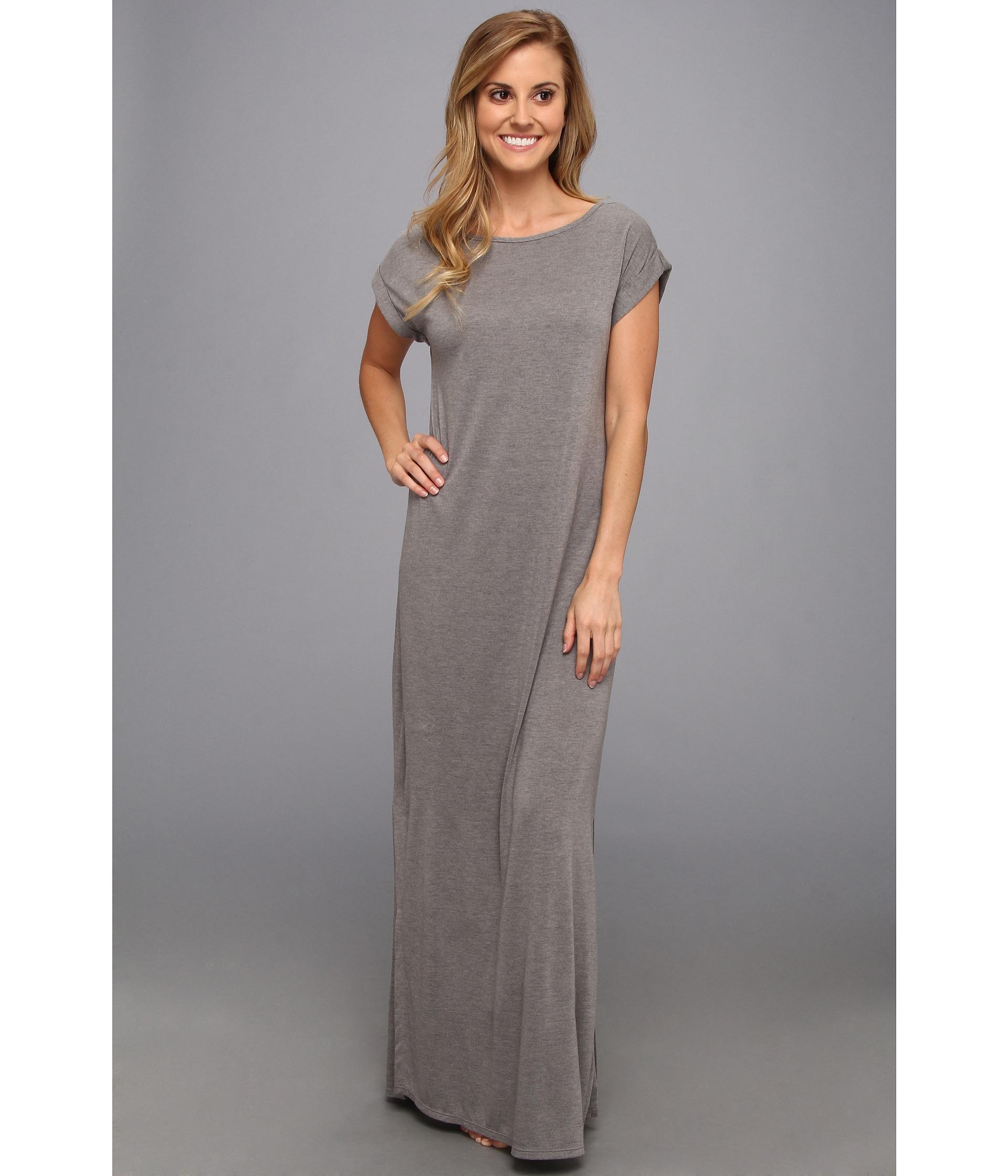 Lyst - Natori Shangrila Long Nightgown in Gray