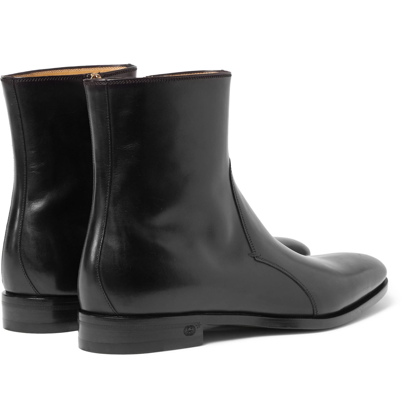 Gucci Leather Chelsea Boots In Black For Men Lyst
