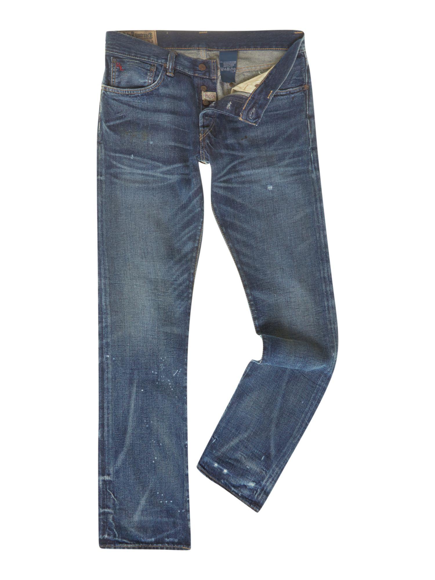 lyst polo ralph lauren varick slim fit jeans in blue for men. Black Bedroom Furniture Sets. Home Design Ideas