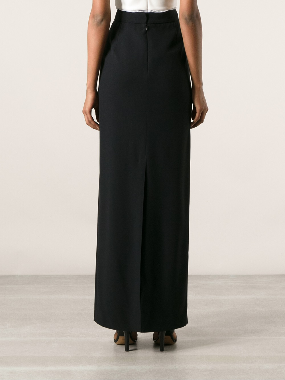 Alexander mcqueen Maxi Pencil Skirt in Black | Lyst