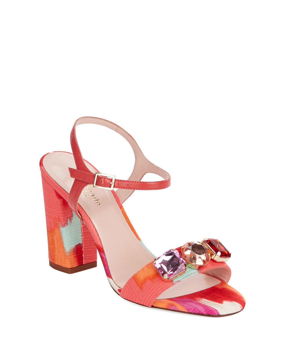 kate spade new york imorana jeweled sandals in pink lyst