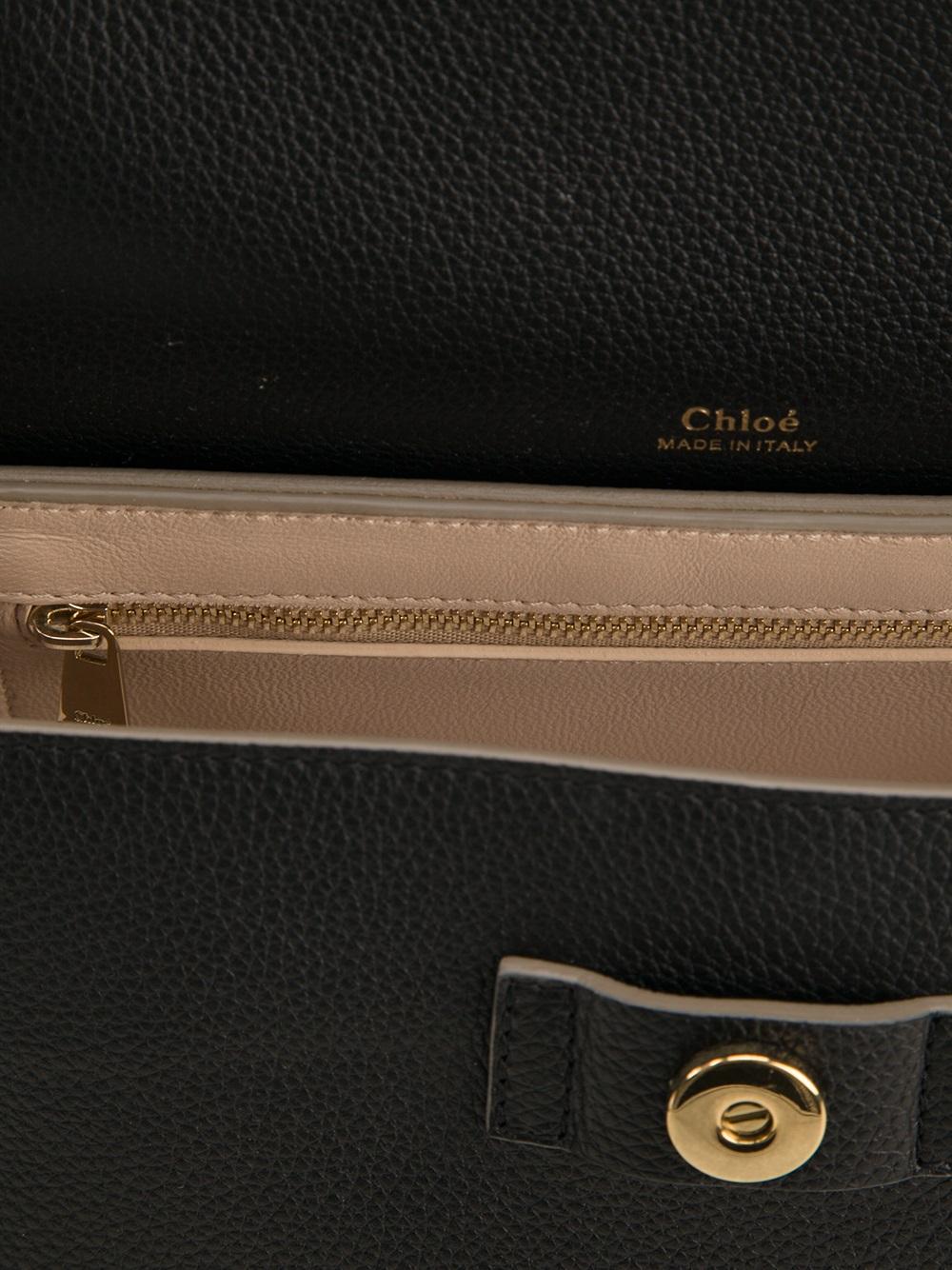 Chlo�� Medium \u0026#39;Clare\u0026#39; Shoulder Bag in Black | Lyst