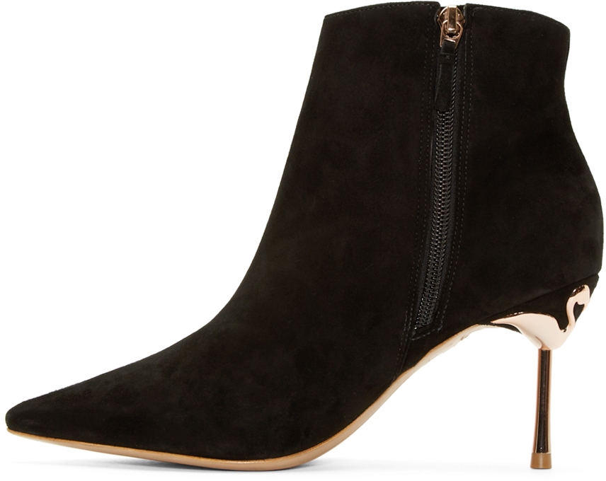 Sophia Webster Black Suede Coco Ankle Boots