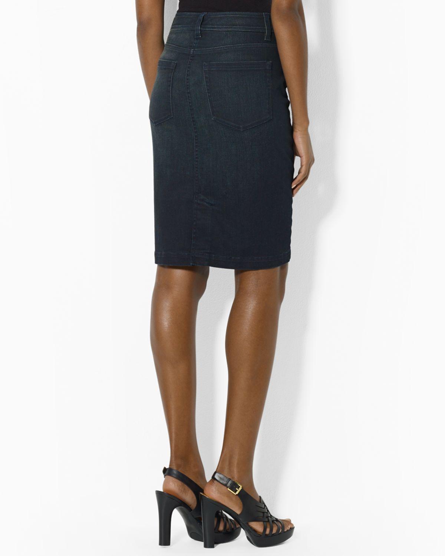 pikatoimitus 100% huippulaatua verkkokauppa Lauren Denim Pencil Skirt