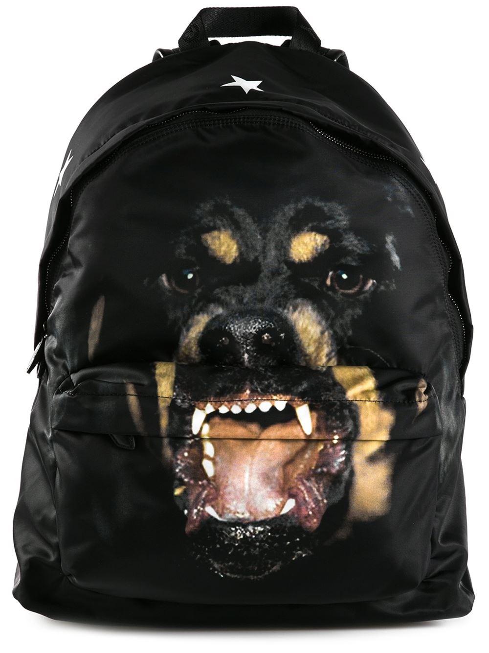 Lyst - Givenchy Rottweiler Print Backpack in Black for Men d2261d091454c