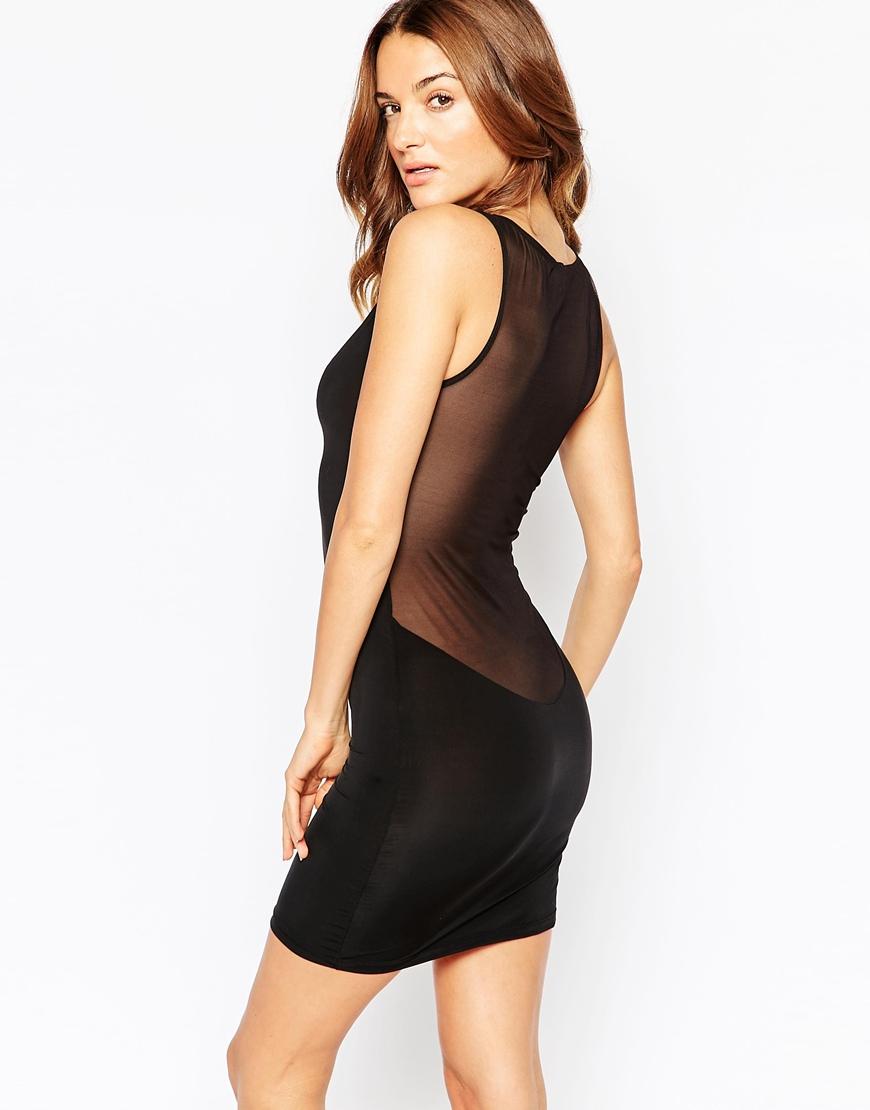 Maison close pure tentation slip dress black in black lyst for Maison close