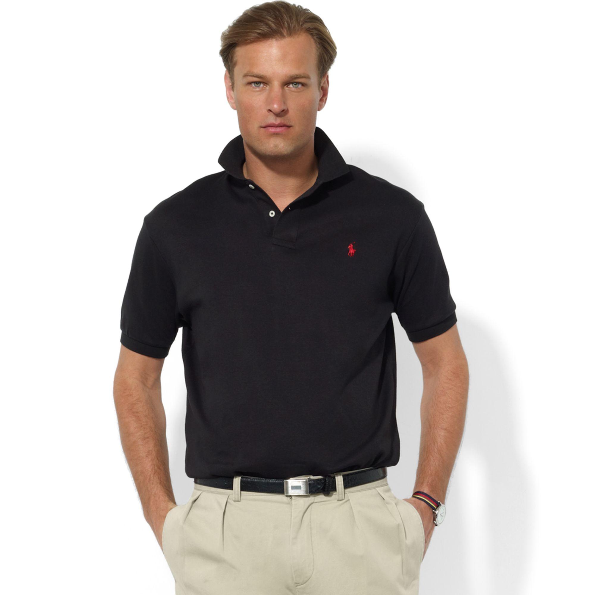 Lyst - Ralph Lauren Classic Fit Interlock Core Polo Shirt in Black ... a3e21bd1bd62