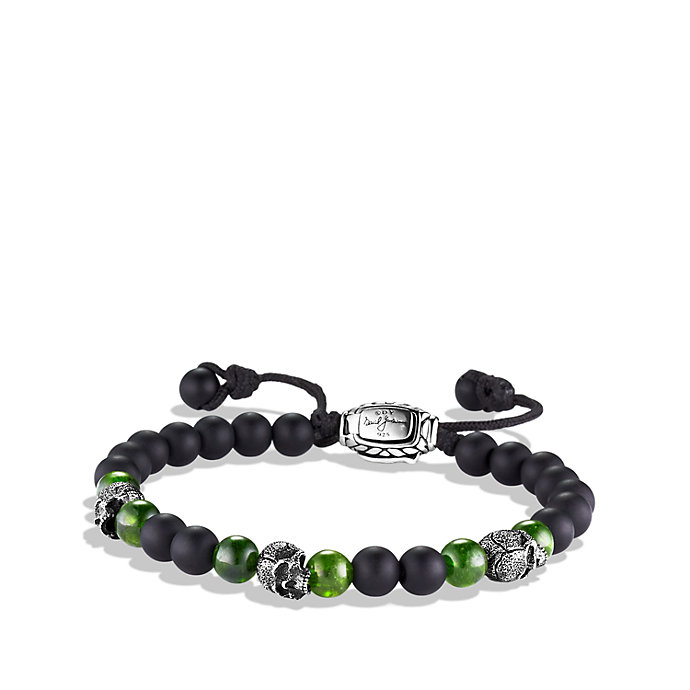 Lyst David Yurman Spiritual Beads Skull Bracelet 6mm In