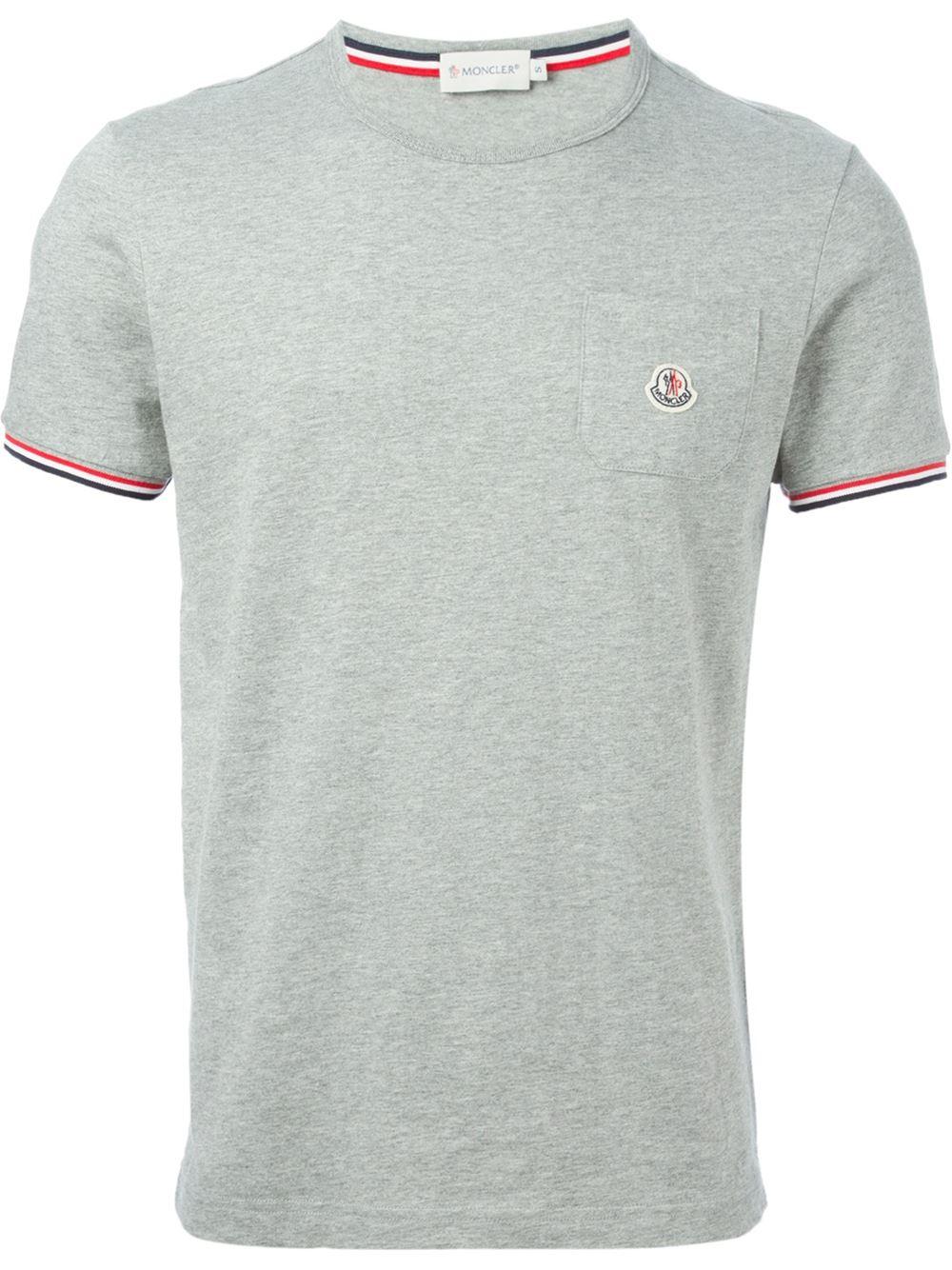 moncler grey t shirt