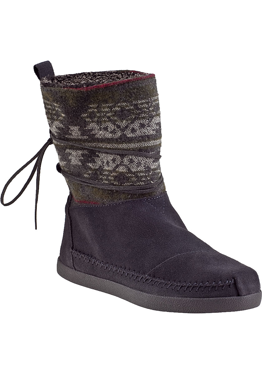 toms nepal ankle boot grey suede in gray lyst