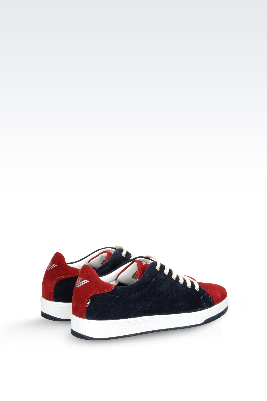 armani jeans sneaker in blue for men dark blue lyst. Black Bedroom Furniture Sets. Home Design Ideas