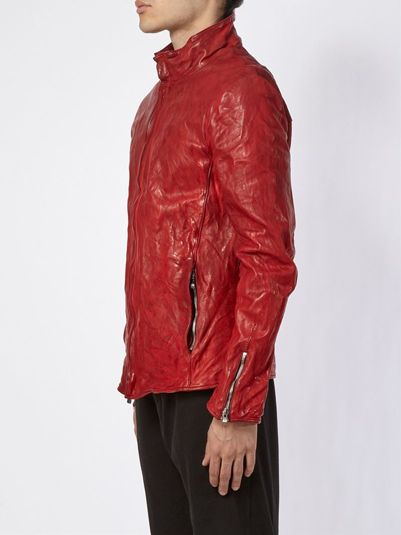 Incarnation Zipped Jacket in Red for Men